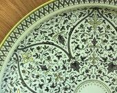 round oriental floral venetian tin tray