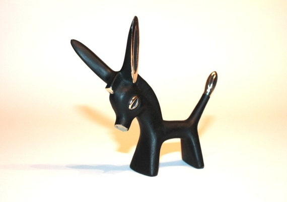 RESERVED // Rare 1950's Walter Bosse Brass Donkey