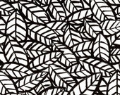 Sketchbook Leaves White/Black by P and B Textiles