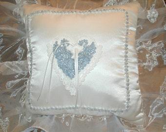 Beautiful Ring Bearer pillow with program basket