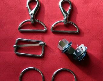 Leyvie Bag Hardware Kit in Silver