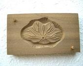 Vintage Japanese Kashigata Sweets Mold - Lotus Leaf D