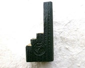 Vintage Japanese Wood Stamp Bamboo Double Sided