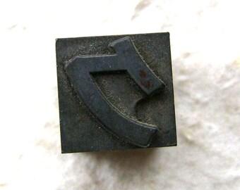 Vintage Japanese Typewriter Key Stamp Ku in Showa Period L Size