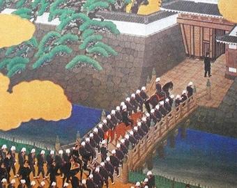 Vintage Japanese Postcard Emperor Visiting Kagoshima