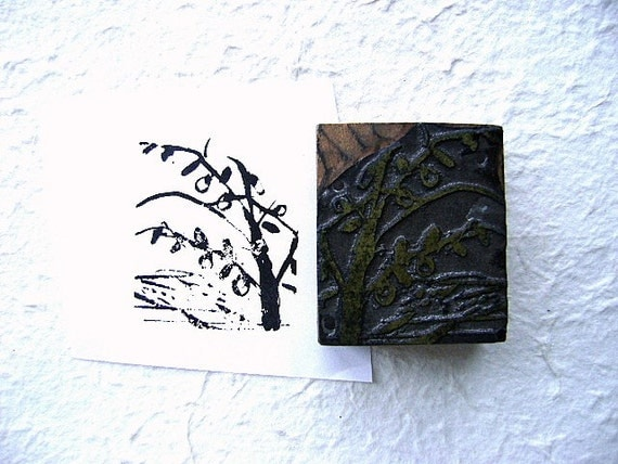 Vintage Japanese Stamp Persimmon Tree (P)