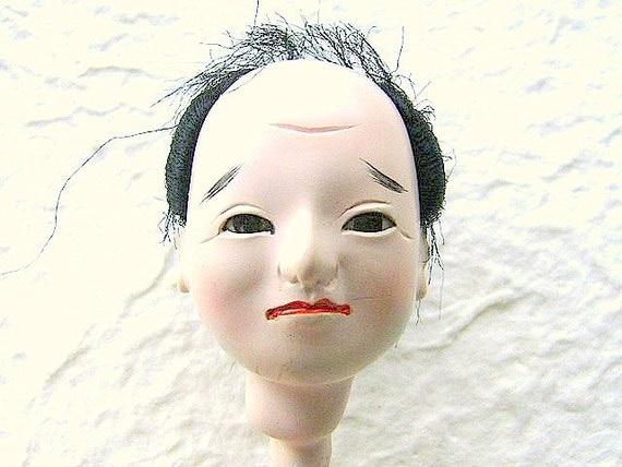 Vintage Japanese  Doll Head Hina Matsuri   Man Body Part No 12