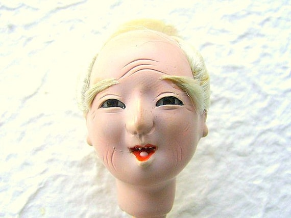 Vintage Japanese  Doll Head Hina Matsuri   Man Body Part No 13