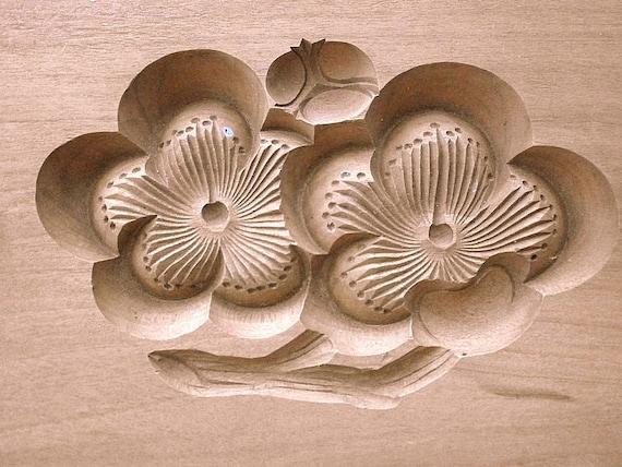 Vintage Japanese Kashigata Sweets Mold Plum Blossoms