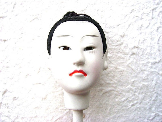 Vintage Japanese Doll Head Hina Doll Man Body Part No 15