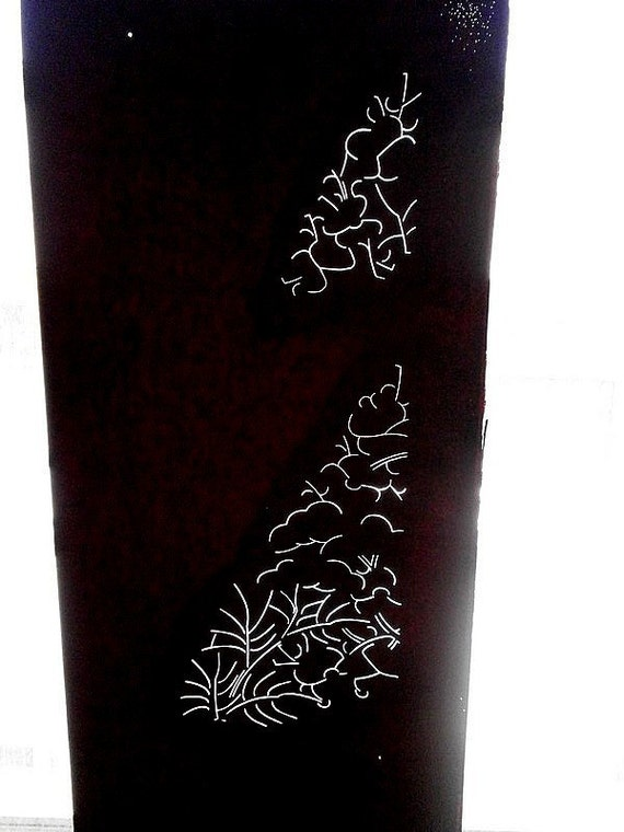 Vintage Japanese Stencil - Vintage Stencil -  Kimono Stencil - Katagami - Leaves Trees