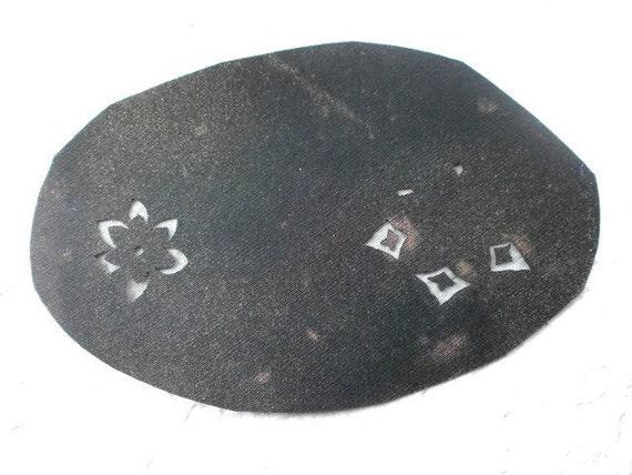 Vintage Japanese Stencil - Vintage Stencil -  Kimono Stencil - Katagami - Flower Stencil