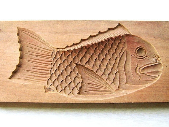 Vintage Japanese Kashigata Sweets Mold Tai Taiyaki Fish BIG