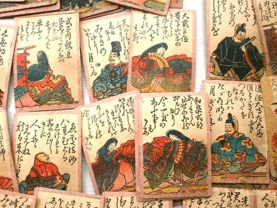 Vintage Japanese Game Cards Uta-Garuta F53