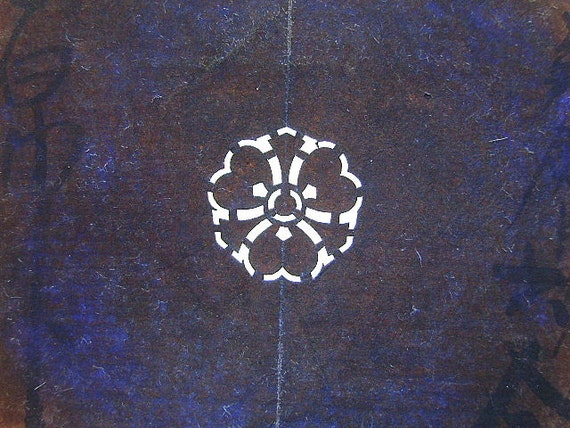 Vintage  Japanese Stencil  Family Crest  Kamon  Stencil C71