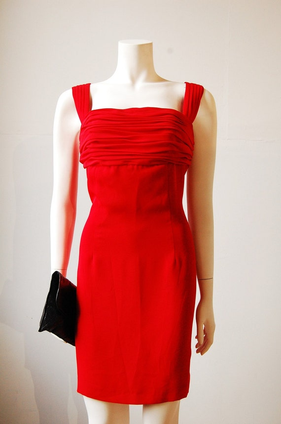 SALE 20% Off: PREHOLIDAY20 CHER'S Cherry Red LA Girl Party Dress Sz 8