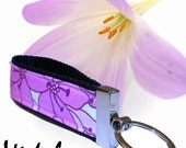 Purple and Lilac Flower  Key Chain