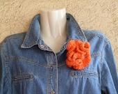 Instant Download - Crochet Pattern hyperbolic 3-D Flower  brooch or hair clip