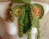 FREE SHIPPING ONE OF A KIND FREEFORM SCARF - READY TO SHIP