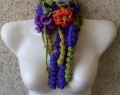 Pattern  02  Crochet Freeform Scarf Fashion Accessory - Corkscrew Stitch - Necklace - Scarflette - Collar INSTANT DOWNLOAD