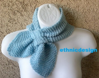 Easy Knitting  E Pattern Number 42 Tuxedo Scarf Cowl - Fall Fashion Autumn Accessories- Instant Download