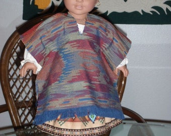 1824 Southwest Reversible Sarape for American Girl Josefina or other 18 inch doll