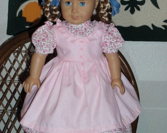 1850s Pioneer Prairie Dress and Pinafore for American Girl Kirsten or other 18 inch doll