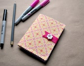 Upcycled Recycled Mini Notebook Machine Stitched Binding