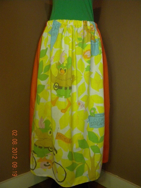 Vintage Woodsy the Owl Hippie Skirt