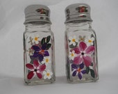 Salt and Pepper Shaker Set Hand Painted