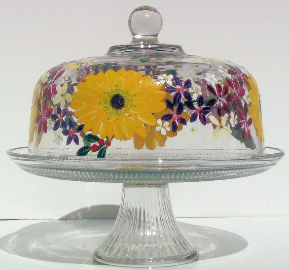 Hand Painted Cake Domes