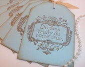 6 Dreams Do Come True Vintage Inspired Wedding and Wish Tree Tags