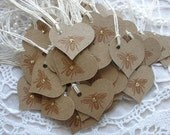 Custom Listing for Maureen Wedding Tags Mini Bee Heart