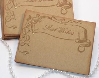 Wedding Wish Cards Vintage Banner Set of 25 SALE
