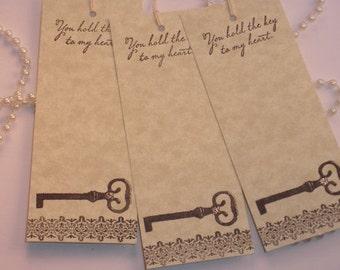 Wedding Wish Tags Skeleton Key Set of 48