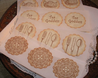Tea Party Stickers Set of 12