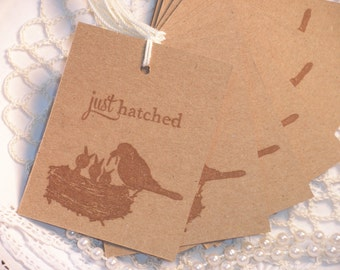 Bird Nest Family Tags Vintage Inspired Set of 10