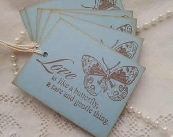 Love is Like A Butterfly Tags Set of 6