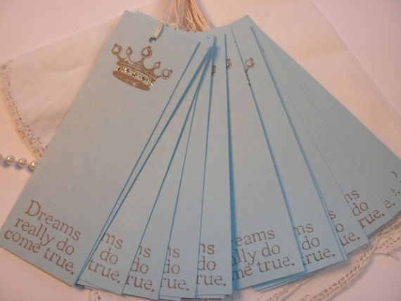 SALE Wedding Wish Tags Dreams Do Come True Bookmark Style Set of 25