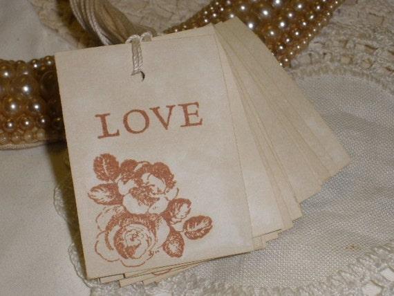 SALE Love Tags Wedding Set of 20