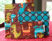 Set of 3 Reusable Snack Bags Dino Dudes and Dots
