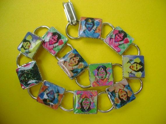 Tiny, Pop- Art  ,Wonder Woman Bubble Bracelet