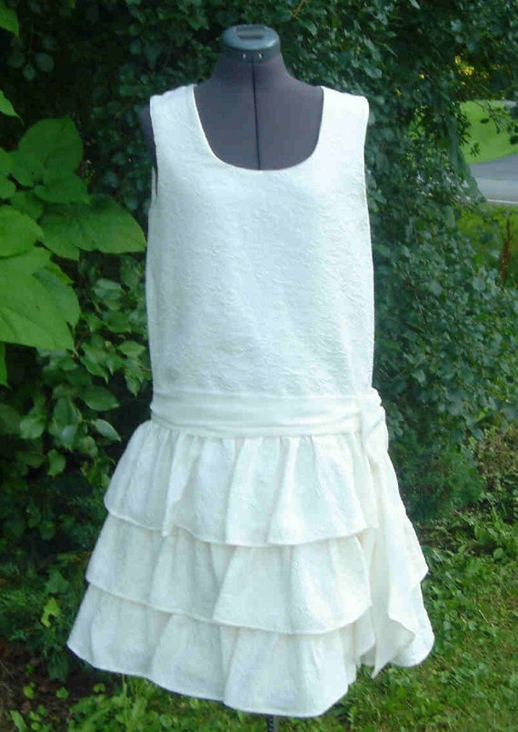 Silk 1920s Flapper Gown Roaring 20s Style Perfect For An