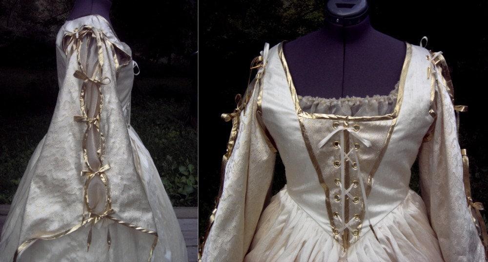 Elizabethan Tudor Renaissance Set Gown Sleeves By