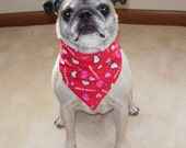 Pet Bandana, Hello Kitty Hearts, Small/Medium Dog Size