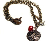 Locket and Sparrow Necklace - FREE SHIPPING U.S.