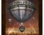Steampunk Vintage Ad Series - Lead Balloon - Art Print by Brian Giberson