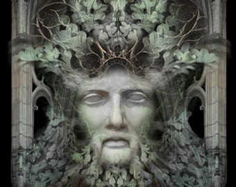 Personification of The Green Man -  Art Print by Brian Giberson