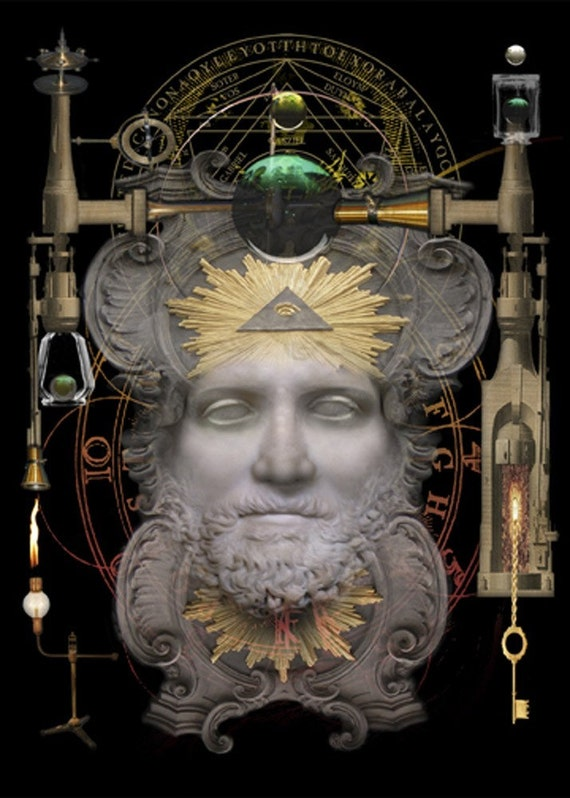 Personification of Alchemy  - Art Print by Brian Giberson