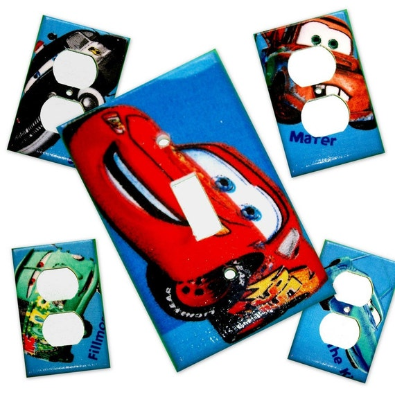 Cars III Light Switch Plate/Outlet Covers Set (5)